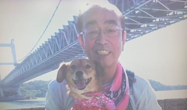 志村けんさん倉敷市下津井にきたー。
